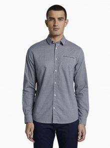 Tmavě modrá pánská košile s drobným vzorem Tom Tailor - M