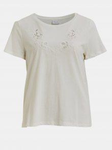 Bílé tričko VILA Drano - S