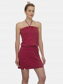 Červené pruhované šaty Ragwear Chicka  - XS