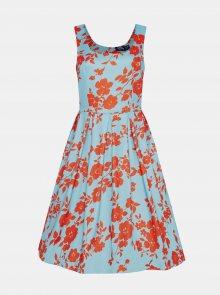 Světle modré květované šaty Dolly & Dotty - XL