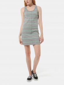 Šedé dámské pruhované šaty VANS - M