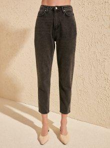 Tmavě šedé straight fit džíny Trendyol - XL