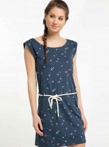 Tmavě modré vzorované šaty Ragwear Tamy - L