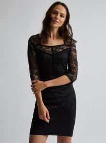 Černé krajkové šaty Dorothy Perkins - S
