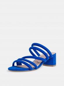 Modré sandálky v semišové úpravě Tamaris - 37