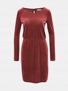 Vínové manšestrové šaty VILA Biana - S
