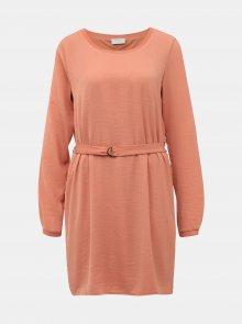 Růžové šaty Vila - S