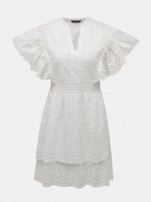 Bílé šaty s madeirou VERO MODA Sophia - XL
