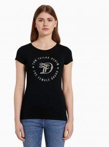Černé dámské tričko Tom Tailor Denim   - S