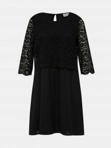 Černé šaty s krajkou VILA Lovia - M
