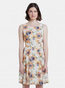 Bílé dámské květované šaty Tom Tailor - S