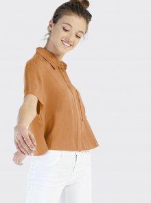 Hnědá dámská košile Alcott - XL