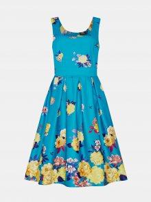 Modré květované šaty Dolly & Dotty - L
