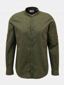 Tmavě zelená pánská košile Alcott - XL