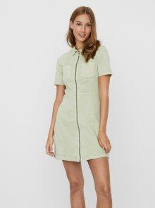 Světle zelené džínové šaty Noisy May Lisa - S