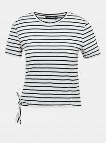 Černo-bílé pruhované krátké tričko TALLY WEiJL - L