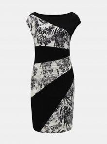 Bílo-černé vzorované šaty Desigual Detroit - M
