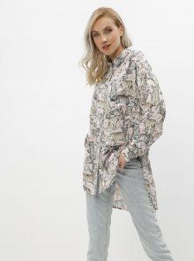 Růžová vzorovaná košile Noisy May Jane - M