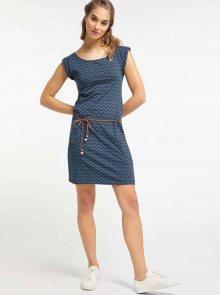 Tmavě modré vzorované šaty Ragwear Tag Zig Zag - L