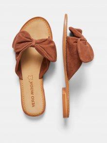 Hnědé semišové pantofle VERO MODA Melanie - 38