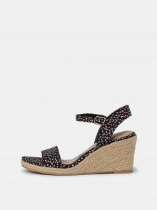 Černé vzorované sandálky Tamaris - 37