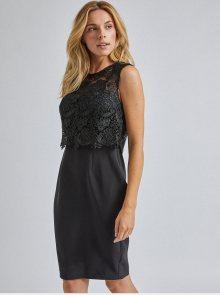 Černé pouzdrové krajkové šaty Dorothy Perkins  - M