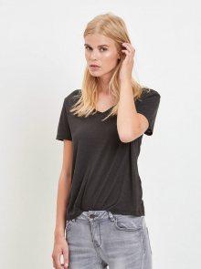 Černé tričko VILA Noel - L