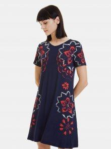 Tmavě modré vzorované šaty Desigual Anna - M