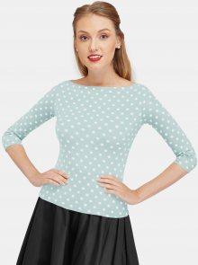 Světle modré puntíkované tričko Dolly & Dotty - XL