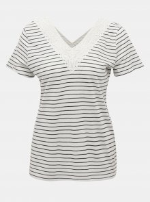 Bílé pruhované tričko VERO MODA Hela - S