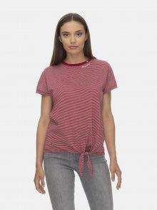 Vínové pruhované tričko Ragwear Bolivia - L