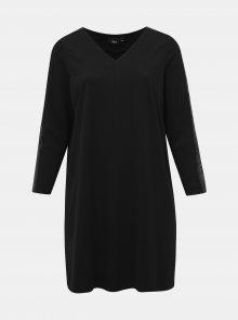 Černé šaty s flitry na rukávech Zizzi My - 50-52