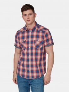 Červená pánská kostkovaná regular fit košile Tom Tailor - M