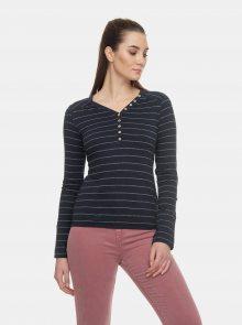 Tmavě modré dámské pruhované tričko Ragwear Pinch - M