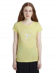 Žluté dámské tričko Tom Tailor Denim - S
