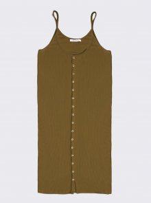 Khaki šaty Alcott - L