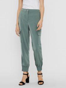 Zelené kalhoty VERO MODA Paula - S