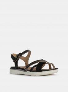 Černé dámské sandály s koženými detaily Geox Hiver - 37