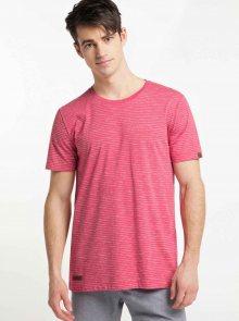 Červené pánské pruhované basic tričko Ragwear Steef - XL