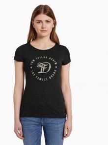 Tmavě šedé dámské tričko Tom Tailor Denim - S