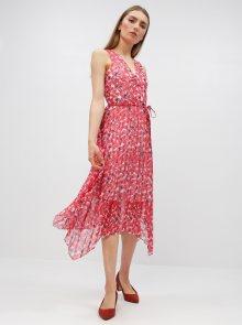 Červené květované šaty Dorothy Perkins - L