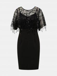 Černé pouzdrové šaty s flitry Dorothy Perkins - S