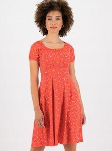 Červené vzorované šaty Blutsgeschwister - L