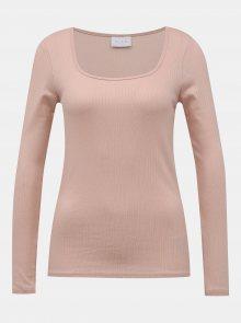 Růžové basic tričko VILA Suloma - L