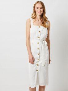 Bílé midi šaty Dorothy Perkins - S