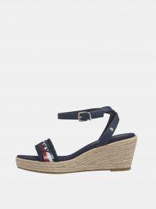 Tmavě modré dámské kožené sandálky Tommy Hilfiger - 37
