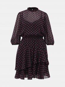 Růžovo-černé puntíkované šaty Dorothy Perkins - S