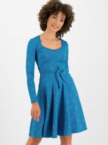 Modré puntíkované šaty Blutsgeschwister Ode To The Woods - S