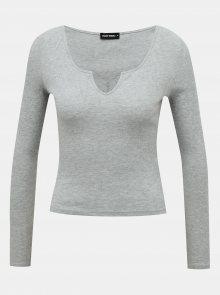 Šedé dámské tričko TALLY WEiJL - S
