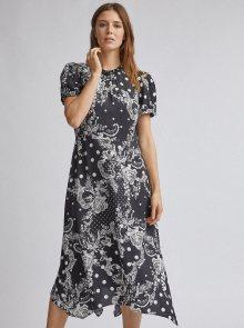 Bílo-černé vzorované midišaty Dorothy Perkins - S